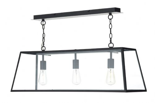 Academy 3 Light Pendant Black (Class 2 Double Insulated) BXACA0322-17